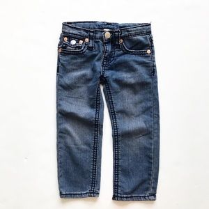 True Religion blue straight leg soft jeans GUC 3/4